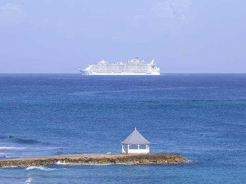 Cruise Ship Going in to Falmouth Port